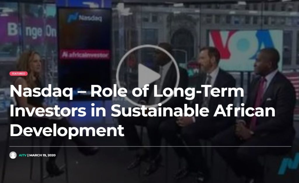 Nasdaq – Role of Long-Term Investors in Sustainable African Development